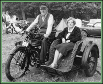 Cecil and Blanch Fuller in their Rover Motorcycle